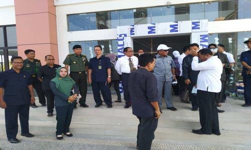Kunjungan kerja Sekretaris MA-RI, di lokasi pengadilan Terpadu
