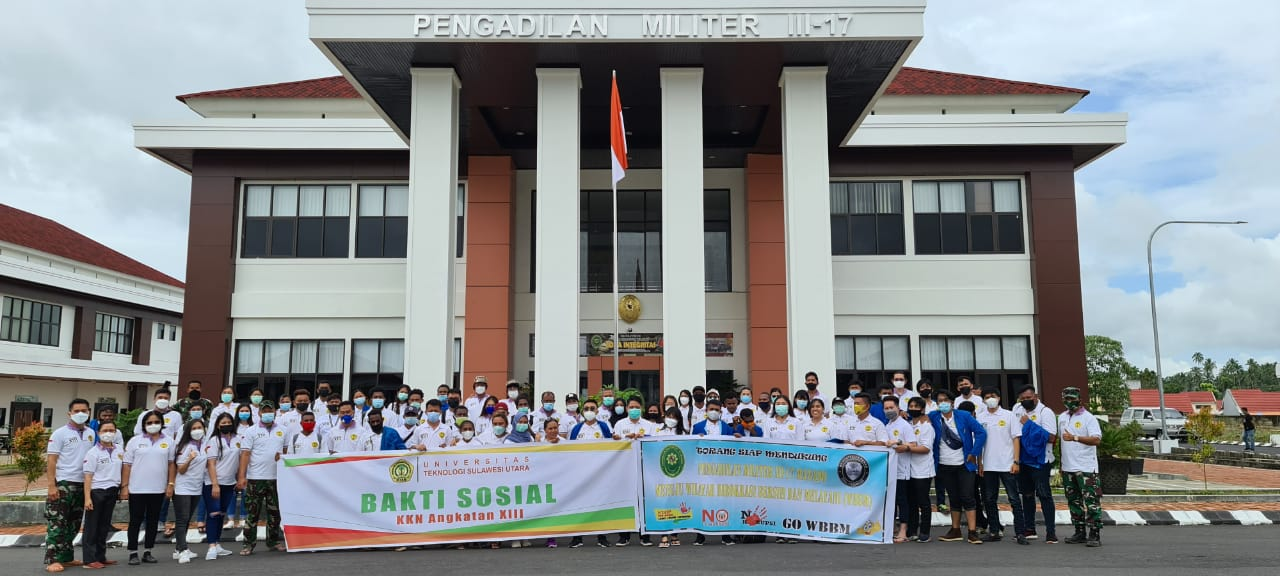 Pengadilan Militer III-17 Manado Bersama UTSU Melaksanakan Bakti Sosial